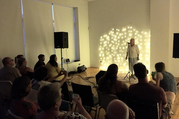 In July, Grassboots Theatre Company held an open mic storytelling night at Artspace to raise funds to stage their first production while also creating an event for Peterborough's arts community.  (Photo: Grassboots Theatre Company / Facebook)