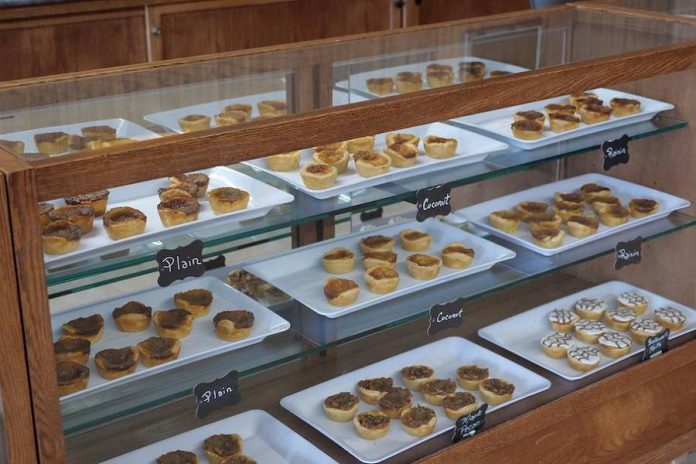 """Butter tarts at Kawartha Shortbread Company in Fenelon Falls. So far, 19 businesses in the nine participating communities have signed on as """"trail-friendly"""" businesses.  Some butter tart bakers in Trail Town communities are going to be implementing a Trail Town Tart to promote the program. (Photo courtesy of RTO8)"""