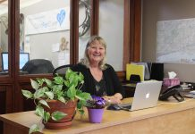 Brenda Booth in her office at ComForCare Home Care in Peterborough where, as Client Care Coordinator, she works with seniors, their families, caregivers, paramedical support providers, and her team of co-workers to solve problems and to keep older adults safe, happy, and supported. After she retired from her career in media sales, she decided to un-retire so she could help older adults live their best life. (Supplied photo)