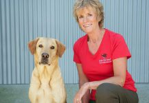 """Ontario Dog Trainer Karen Laws with her dog Persi. For 14 years, Karen has taught dog owners how to build a relationship with their pets based on trust and leadership. Now she is expanding her boarding programs such as """"dog university"""", where dogs come to stay for several weeks at Karen's Bethany facility. Karen teaches the dogs desired behaviour and also takes the owners how to have the life they dream of with their dog. (Supplied photo)"""