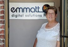 Kim Appleton is President and CAO of Peterborough-based technology company Emmatt Digital Solutions, which she founded with her partner Chris Calbury in 1998. In addition to her business role, Kim is an active volunteer and also shares her knowledge and experience by mentoring others, especially entrepreneurs who are just starting out. She recently received the 2019 Judy Heffernan Award in recognition of her ongoing efforts to help others succeed. (Photo: Paula Kehoe / kawarthaNOW.com)