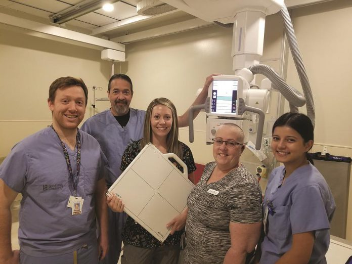 PRHC's Chief of Emergency Medicine Dr. Mark Troughton (second from left) and healthcare professionals from the Emergency Department say thanks to donors for their $1.1 million investment in state-of-the-art X-Ray technology. (Supplied photo)
