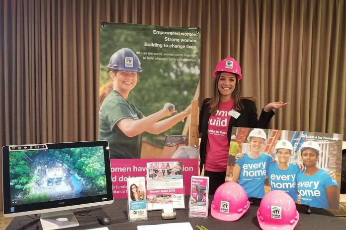 Habitat For Humanity Peterborough & Kawartha Region's Women Build display at the 2019 WBN Annual Member Trade Show at  Highland Park Reception Centre. (Photo: WBN / Facebook)
