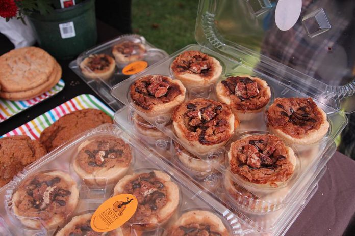 The Pastry Peddler of Millbrook won first place overall for its Peddler Saloon', with a whiskey-infused filling loaded with pecans and topped with candied whiskey pecans. (Photo courtesy of Kawarthas Butter Tart Tour)