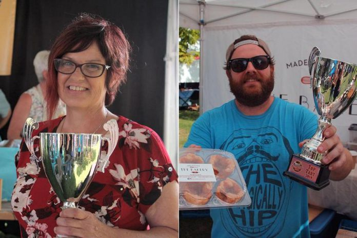 Antonia's Bistro of Campbellford won second place and The Bakery Warkworth of Warkworth won third place.  (Photos courtesy of Kawarthas Butter Tart Tour)