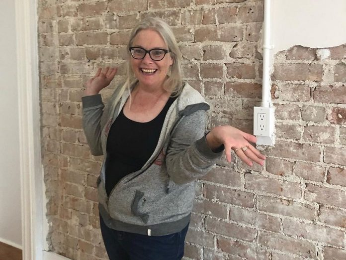 Heather Doughty at her new studio in the Commerce Building in downtown Peterborough. (Photo courtesy of Heather Doughty)
