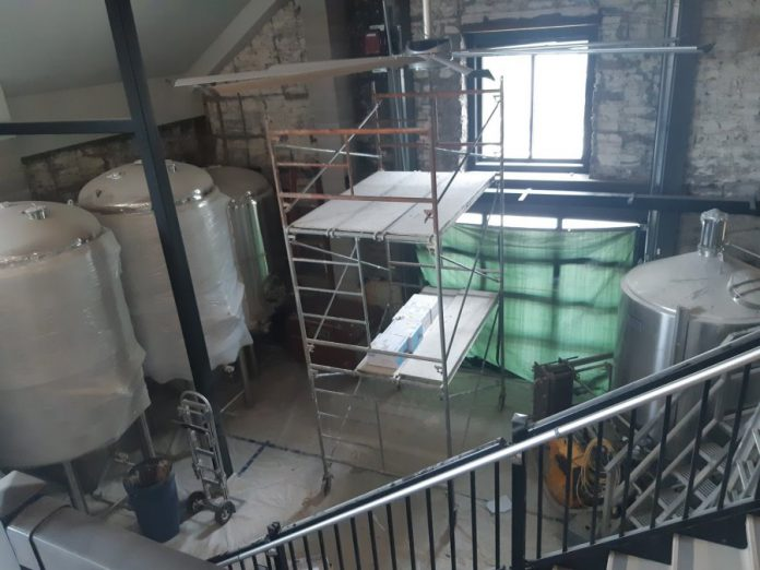 Fenelon Falls Brewing Co. has temporarily closed its Bottle Shop to focus on completing construction of the new brewhouse and taproom. (Photo: Fenelon Falls Brewing Co.)