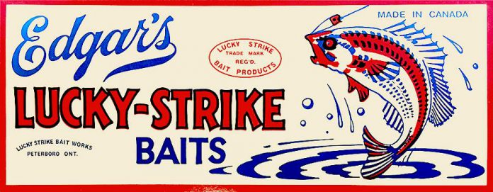 """Lucky Strike Bait Works was founded in Peterborough in 1929 by Frank """"Rusty"""" Edgar. (Photo courtesy of Lucky Strike Bait Works)"""