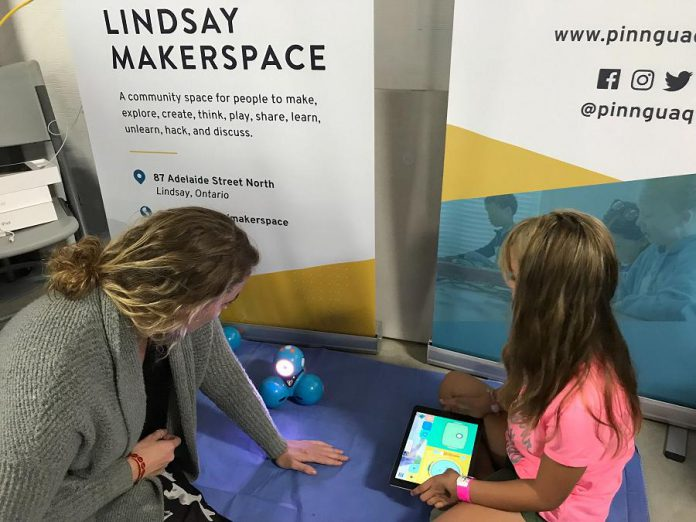 Pinnguaq Kawartha Lakes was at the Lindsay Exhibition in September 2019 to share information about the new Lindsay Makerspace. (Photo: Pinnguaq Kawartha Lakes / Facebook)