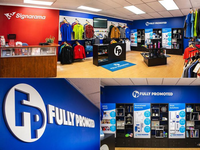 With its Fully Promoted sister franchise, Signarama is expanded its services to offer custom apparel and promotional products. (Supplied photos)