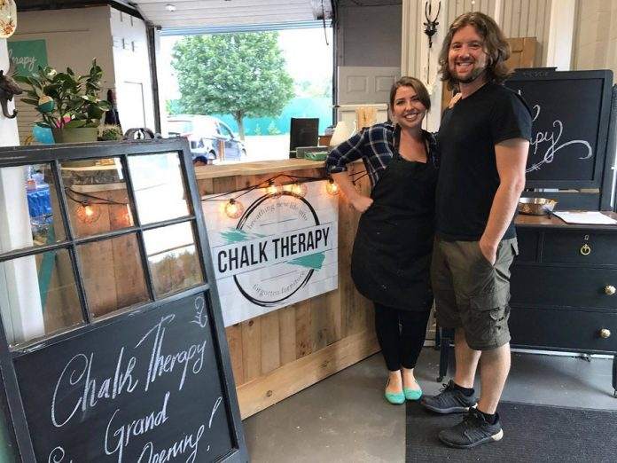 Tara and Adam Genge of antique and vintage furniture refinishing business Chalk Therapy are launching Electric City Works, a new retail marketspace hub in downtown Peterborough, in October 2019. The 5,000-square-foot space, which will also be the new location of Chalk Therapy, is intended for makers, creatives, artisans, entrepreneurs, and small businesses. (Photo courtesy of Chalk Therapy)