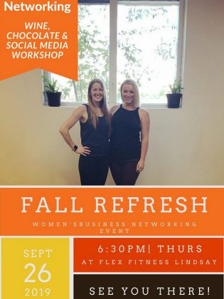 Fall Refresh Women's Networking Event by Ashley Webster - AW Media Consulting and Cathy Steffler - FLEX Fitness