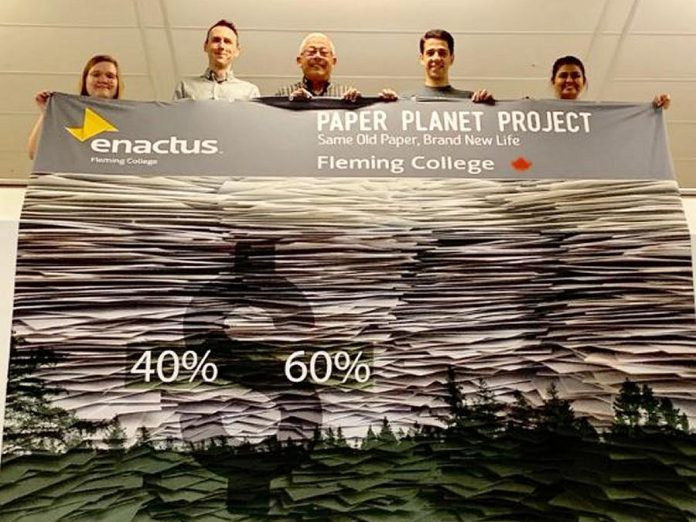 College's Paper Planet Project creates biodegradable and inexpensive products by diverting paper from landfill and recycling and turning it into products that can later be sold. (Photo courtesy of Enactus Fleming College)