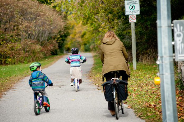 Seek out paths and shortcuts through parks when planning your active route to school this year as they can be a faster and safer alternative to roadways.  (Photo courtesy of GreenUP)