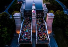 """This photo by Justen Soule of the """"Light Up The Night"""" Lock & Paddle event on August 24, 2019 at the Peterborough Lift Lock was the top post on our Instagram for August 2019. (Photo: Justen Soule @justensoule / Instagram)"""