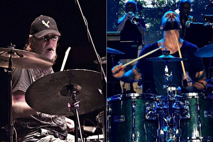 The Lighthouse family spans the generations: Lighthouse co-founder and original drummer Skip Prokop (left) passed away in 2017; his son Jamie Prokop is now the band's drummer.  (Photos courtesy of Hoffert Communications)