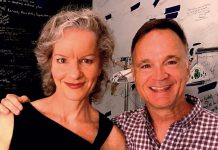 "Dora award-winning actor Jonathan Wilson will perform as Arnold Beckoff in New Stages Theatre Company's staged reading of Harvey Fierstein's ""Torch Song"" at the Market Hall in downtown Peterborough on September 15, 2019. Also pictured is Toronto actor Tracey Hoyt, who will perform as Mrs. Beckoff. The other members of the cast are Jeff Miller as Ed, Megan Murphy as Laurel, and Quinlan Shearer as David. (Photo: Jonathan Wilson / Facebook)"