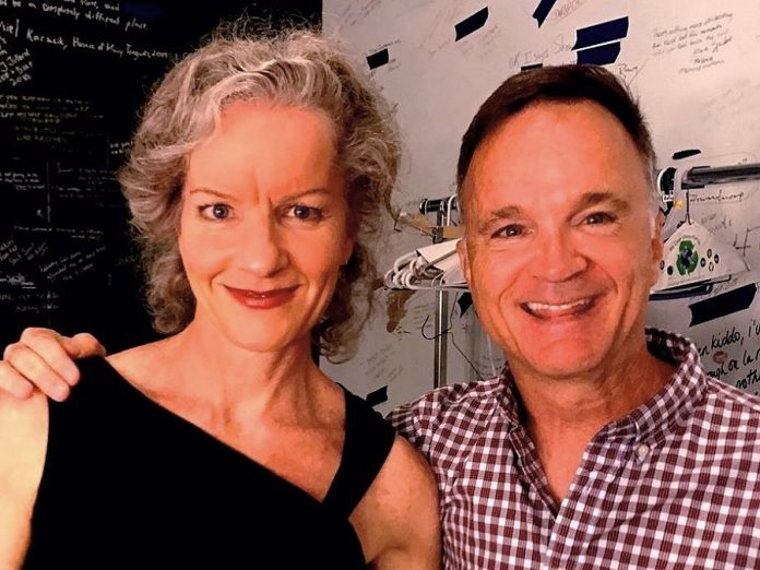 """Dora award-winning actor Jonathan Wilson will perform as Arnold Beckoff in New Stages Theatre Company's staged reading of Harvey Fierstein's """"Torch Song"""" at the Market Hall in downtown Peterborough on September 15, 2019. Also pictured is Toronto actor Tracey Hoyt, who will perform as Mrs. Beckoff. The other members of the cast are Jeff Miller as Ed, Megan Murphy as Laurel, and Quinlan Shearer as David. (Photo: Jonathan Wilson / Facebook)"""