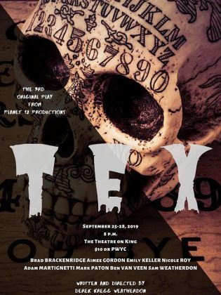 "Written and directed by Derek Weatherdon, ""Tex"" runs September 25 to 28, 2019 at The Theatre on King in downtown Peterborough."