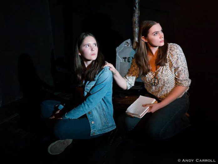 Samuelle Weatherdon as the slightly naive but forceful Max and Aimee Gordon as the cool girl Billie. (Photo: Andy Carroll)