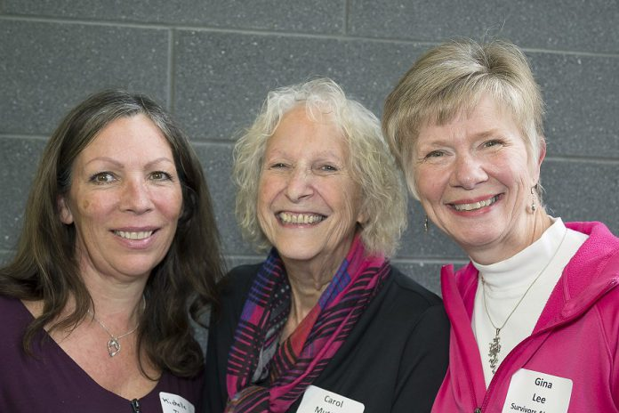 Current Dragon Boat chair Michelle Thornton, past chair Carol Mutton, and incoming chair Gina Lee at the PRHC Foundation's Celebration of Giving event in October 2018. (Photo courtesy of PRHC Foundation)
