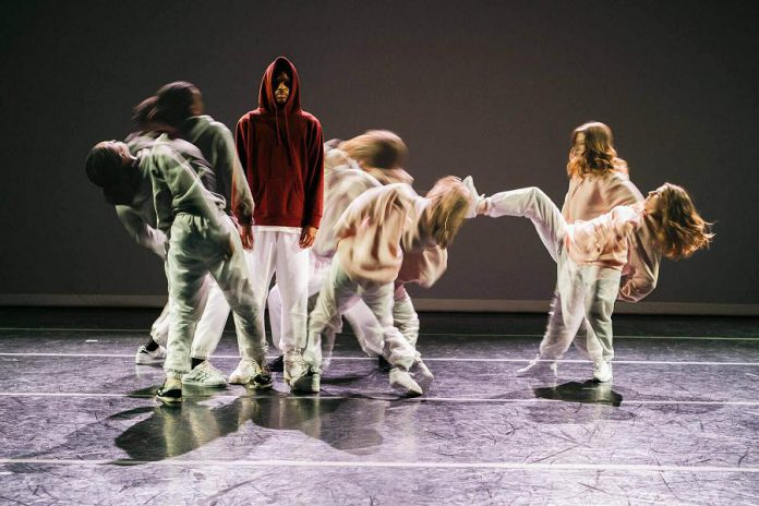 """In-Ward"" features six dancers choreographed Alexandra ""Spicey"" Landé who use hip-hop to explore the human psyche with dramatic tension and dark humour, with sound design by hip-hop beat maker and producer Shash'U. (Photo: Melika Dez)"