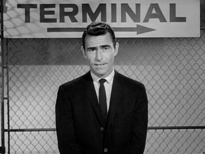 "Rod Serling not only appeared as the narrator of ""The Twilight Zone"" but wrote more than half of scripts for the episodes of the original black-and-white series, which ran from 1959 to 1964. (Photo: CBS Productions)"