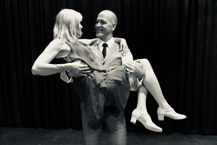 "J.P. Baldwin, who has worked as a ballroom dance instructor, choreographed the play and taught his co-star Jennifer Gruer to dance, just as his character does in ""Six Dance Lessons in Six Weeks"", running from September 20 to October 5, 2019 at the Guild Hall in Peterborough. (Photo: Lynn Braun)"