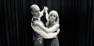 """J.P. Baldwin and Jennifer Gruer star in the Peterborough Theatre Guild production of Richard Alfireri's """"Six Dance Lessons in Six Weeks"""". The comedy, about a formidable widow who hires an acerbic dance instructor to give her dance lessons, runs from September 20 to October 5, 2019 at the Guild Hall in Peterborough. (Photo: Lynn Braun)"""