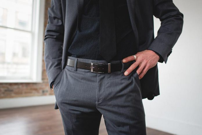 For a more contemporary formal look, Solid Leather offers inch-and-a-quarter wide belts with a sleek minimalist buckle in multiple colours, ideal for pairing with a jacket, suit, or other formal wear. (Photo: Bryan Reid Photography)