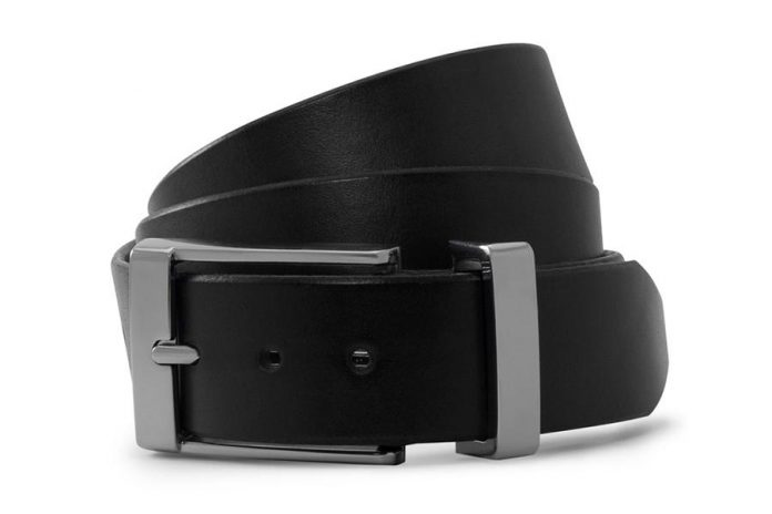 Solid Leather's belts, such as this formal black leather belt with a chrome buckle, can be purchased online or by appointment. (Supplied photo)
