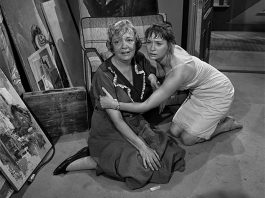 """A scene from """"The Midnight Sun"""", a 1961 episode of The Twilight Zone written by Rod Serling, in which two women try to cope with increasingly oppressive heat in a nearly abandoned city after Earth has been knocked out of its orbit and is slowly falling into the sun. It is one of two episodes that will be recreated for the stage at The Theatre on King in downtown Peterborough on September 20, 2019. (Photo: CBS Productions)"""