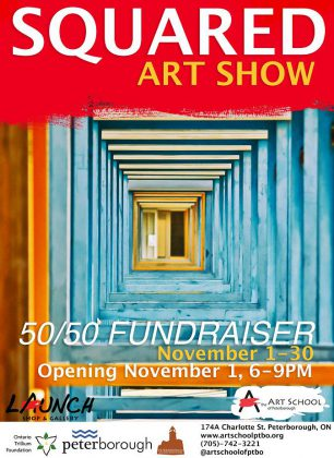 The 'Squared' fundraiser takes place during November at the Art School of Peterborough. (Poster courtesy of Art School of Peterborough)