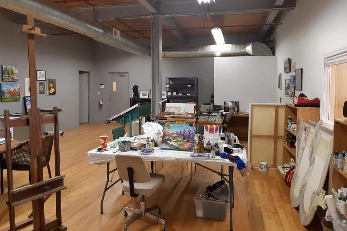 Victoria Wallace's shared studio space at 280 Perry Street in Peterborough. (Photo courtesy of Victoria Wallace)