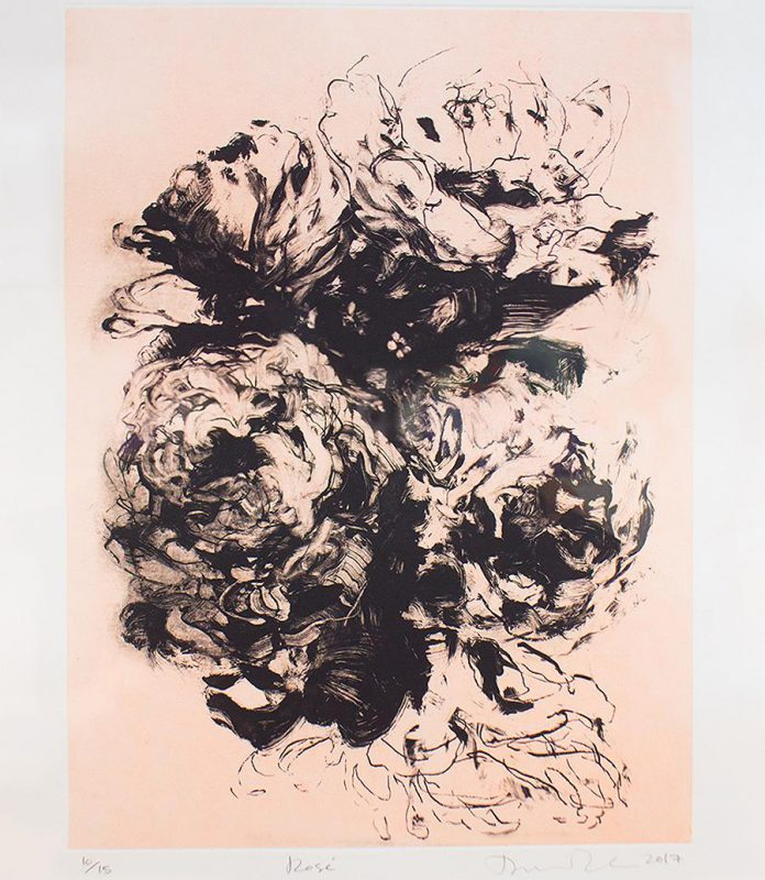 "'Rosé' by Darlene Cole (10/15, 2017, etching 30"" X 22""), one of eight new works of art donated to the permanent collection of the Art Gallery of Northumberland. (Photo courtesy of Art Gallery of Northumberland)"
