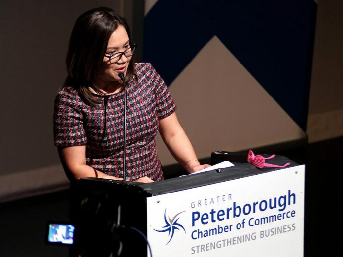 Carmela Valles was named Business Citizen of the Year at the Peterborough Chamber of Commerce's Business Excellence Awards on October 16, 2019. (Photo: Peterborough Chamber / Facebook)