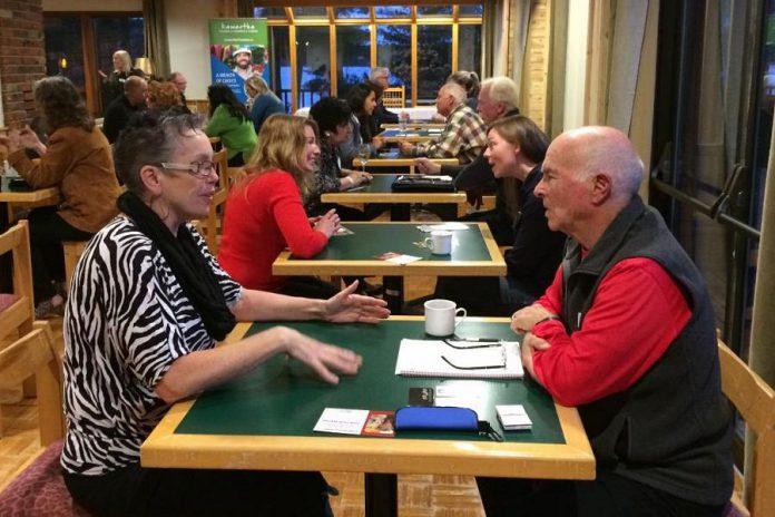 Kawartha Chamber members participate in a speed networking session. (Photo: Kawartha Chamber)