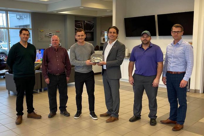 Curry Chevrolet Buick GMC in Haliburton with their President's Club Award from GM Canada, awarded to the top 10 per cent of 500 GM dealers across Canada for sales, service, and customer satisfaction. (Photo: Curry Chevrolet Buick GMC / Facebook)