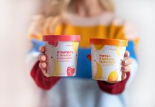 "Peterborough-based company Chimp Treats has rebranded its flagship Nicecream frozen dessert line, which is sold across Canada with plans to expand to Europe retailers in 2019. The new look is designed to appeal to the product's largest demographic and to focus on ""Nicecream"" as a unique category of frozen dessert made of 100 per cent fruit. (Photo courtesy of Chimp Treats)"