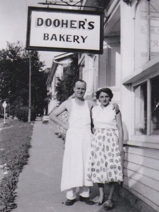 Dooher's Bakery, which is celebrating its 70th anniversary this year, was founded in 1949 when Harry and Muriel Dooher opened a small bakery in Madoc, using a small wood-fired oven and a manually pumped water tank to bake their goods, later moving the bakery to Campbellford, where it is currently owned by their granddaughter Cory. (Photo courtesy of Dooher's Bakery)