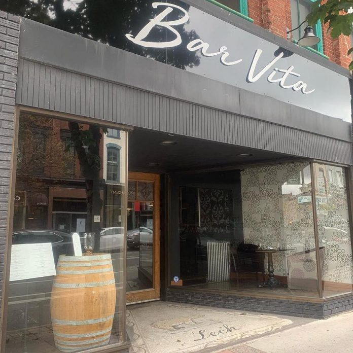 Bar Vita is located in the old Lech Furrier space at 413 George Street North in downtown Peterborough. (Photo courtesy of Bar Vita)