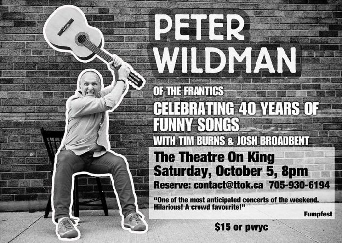Peter Wildman will perform at The Theatre on King in downtown Peterborough on October 5, 2019.