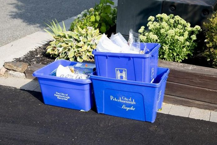 Emterra Environmental is the new contractor for recycling collection and processing in the City of Peterborough effective November 1, 2019. If you do not sort blue boxes properly, your recycling will not be collected. (Photo: City of Peterborough)