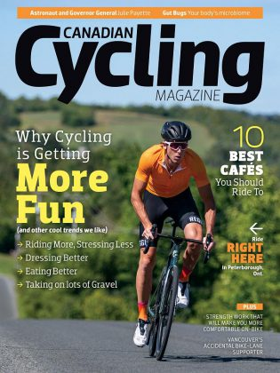 Peterborough & the Kawarthas is featured on the Fall 2019 issue of Canadian Cycling Magazine. (Photo: Canadian Cycling Magazine)