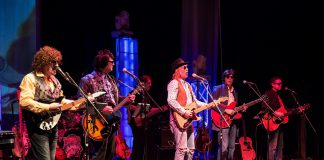 With members selected from the best tribute bands in Canada, The Traveling Milburys faithfully recreates the look and sound of supergroup The Traveling Wilburys, including members Jeff Lynne, Roy Orbison, Tom Petty, George Harrison, and Bob Dylan. The tribute band performs at Market Hall Performing Arts Centre in downtown Peterborough on November 29, 2019. (Photo: The Traveling Milburys)