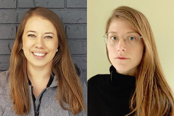 "The artists behind ""Trophy"":  Sarah Conn and Allison O'Connor. (Photos courtesy of Public Energy)"