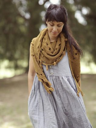 Starting Black Friday and running all weekend, Needles in the Hay in downtown Peterborough is offering several special promotions, including $31 off a project bundle that includes this Hipster Shawl pattern by Joji Locatelli and five skeins of Myak baby yak medium. (Photo: Joji Locatelli)
