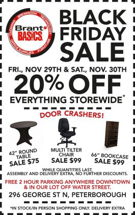 Brant Basics is offering great Black Friday deals on November 29 and 30, 2019.