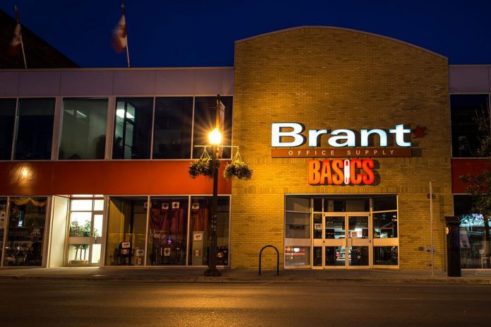 Brant Basics at 296 George Street North in downtown Peterborough is an independent family-owned business that has supported the local community for 55 years. They are holding a Black Friday sale on November 29 and 30, 2019 with 20 per cent off everything storewide as well as door crashers. (Photo: Pat Trudeau / kawarthaNOW.com)