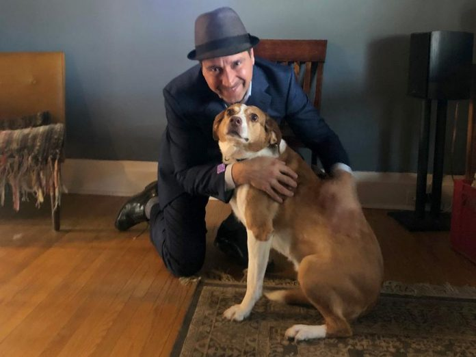 Joe Grant, associate at  LLF Lawyers, and his dog Molly, who he adopted from  Peterborough Humane Society five years ago. LLF Lawyers has pledged a $25,000 contribution towards the Peterborough Humane Society's  Our Pet Project campaign to build a first-of-its-kind animal care centre. (Supplied photo)